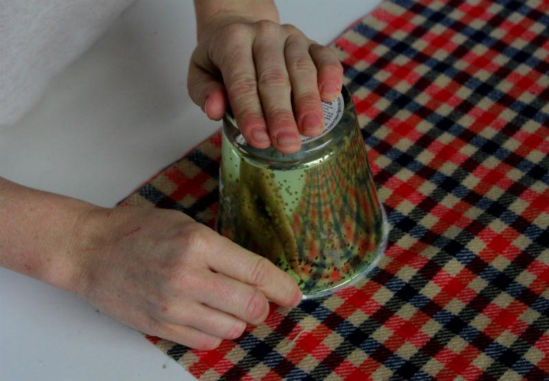 1 trace circle onto fabric