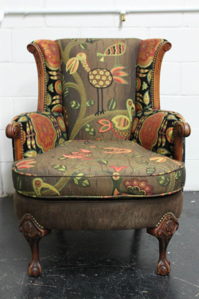 Wingback chair after