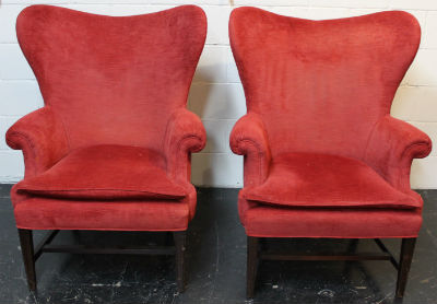 red chairs before