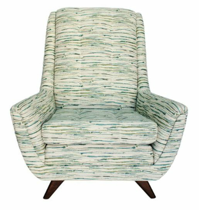 mid century chair green