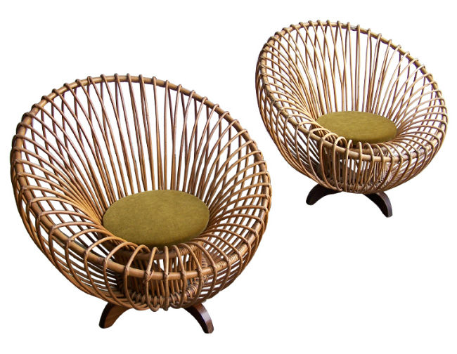 1950s Italian rattan furniture