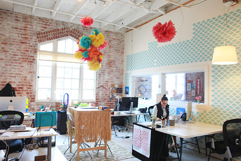 A sneak peek of the Creativebug office, compliments of Uppercase Magazine. See more here!