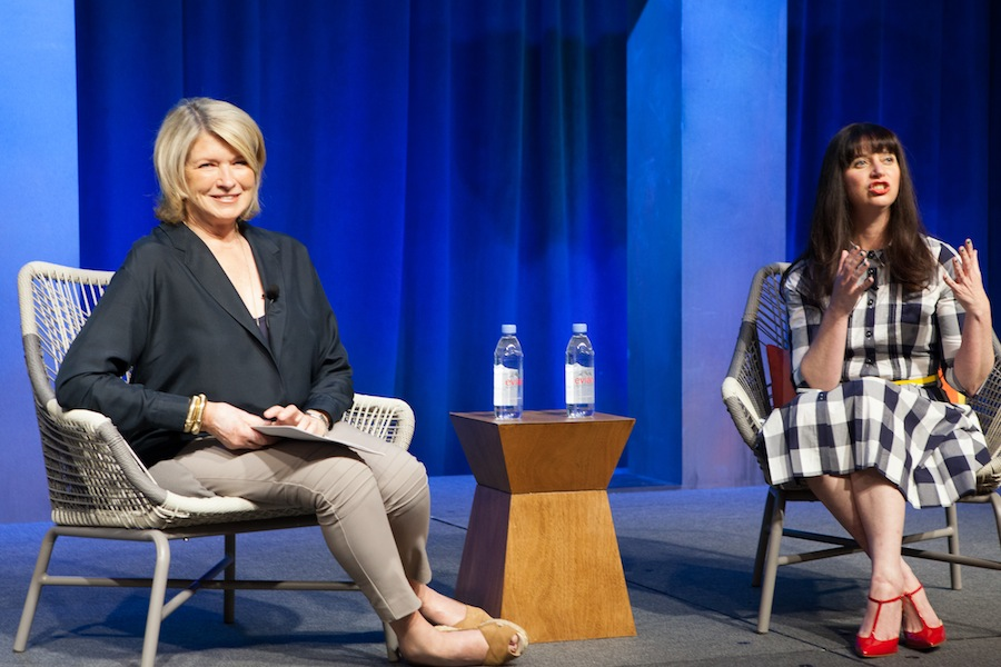 Martha Stewart was the conference's keynote speaker for the second day, and she was interviewed by Gabrielle Blair of Design Mom!
