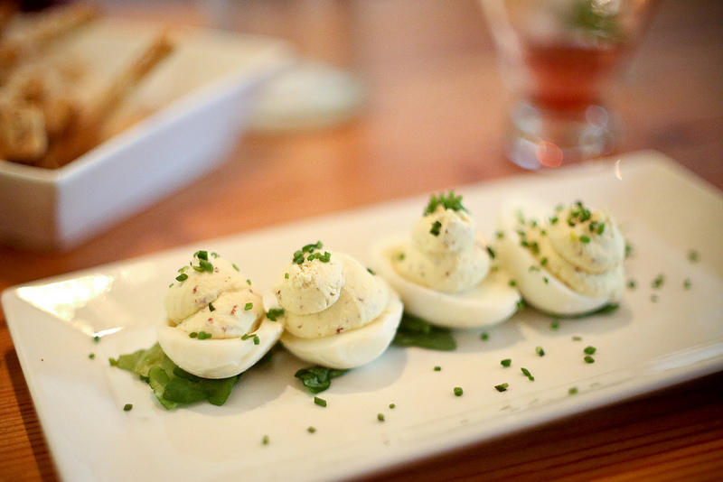 Truffled deviled eggs at Salty Sow. Photo by Tina Phan via blog.tinaphan.org.