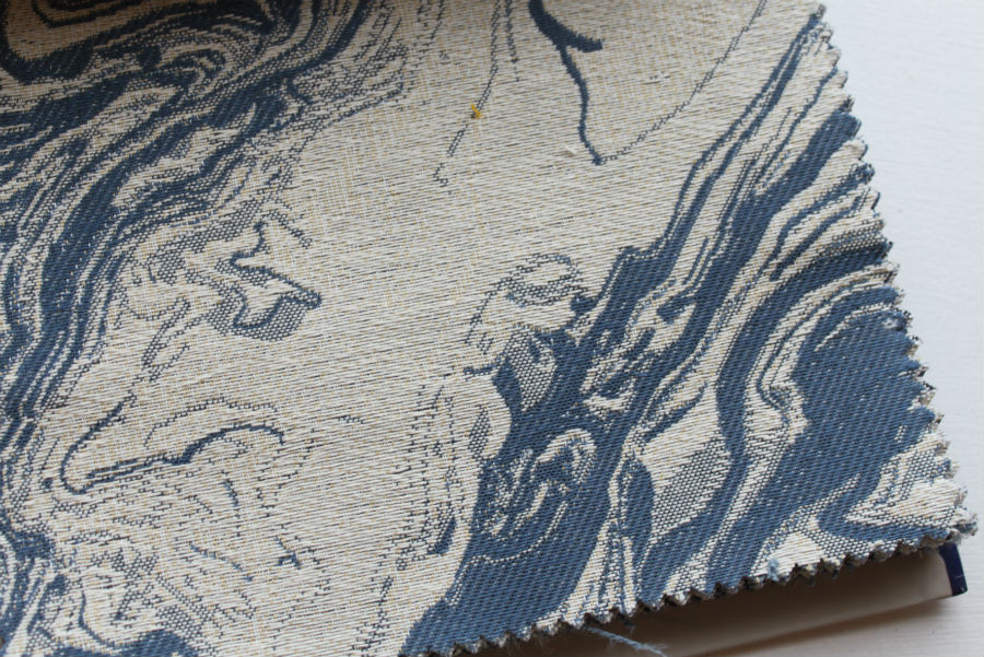 JF Fabrics watercolor, even marbling-look pattern. So neat!